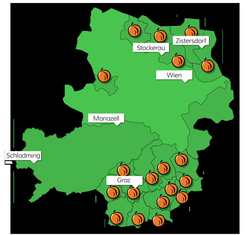 Karte der Kürbisanbaugebiete